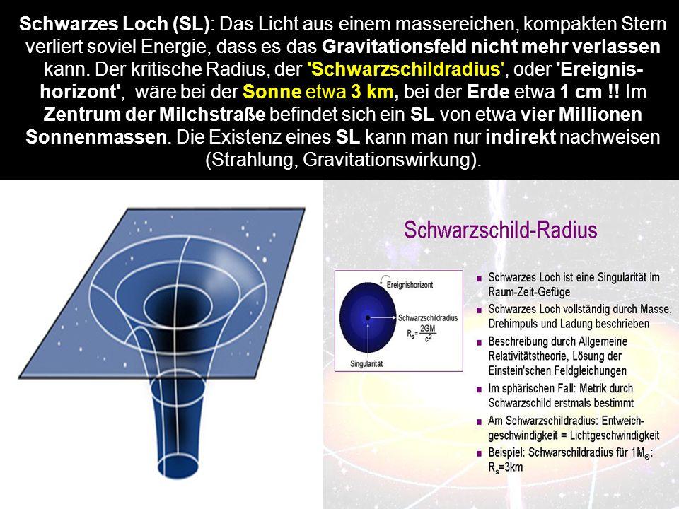 Schwarzes Loch (SL): Das Licht aus einem massereichen, kompakten Stern