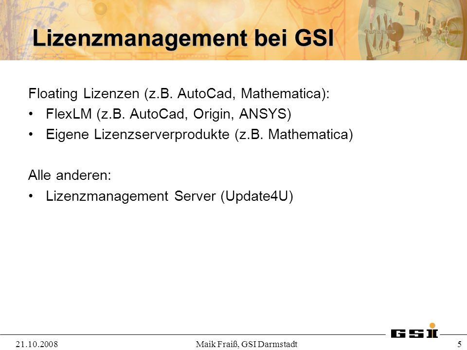 Lizenzmanagement bei GSI