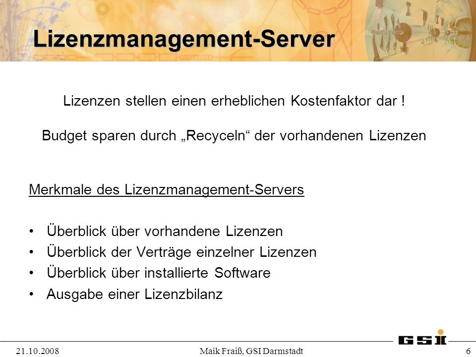 Lizenzmanagement-Server