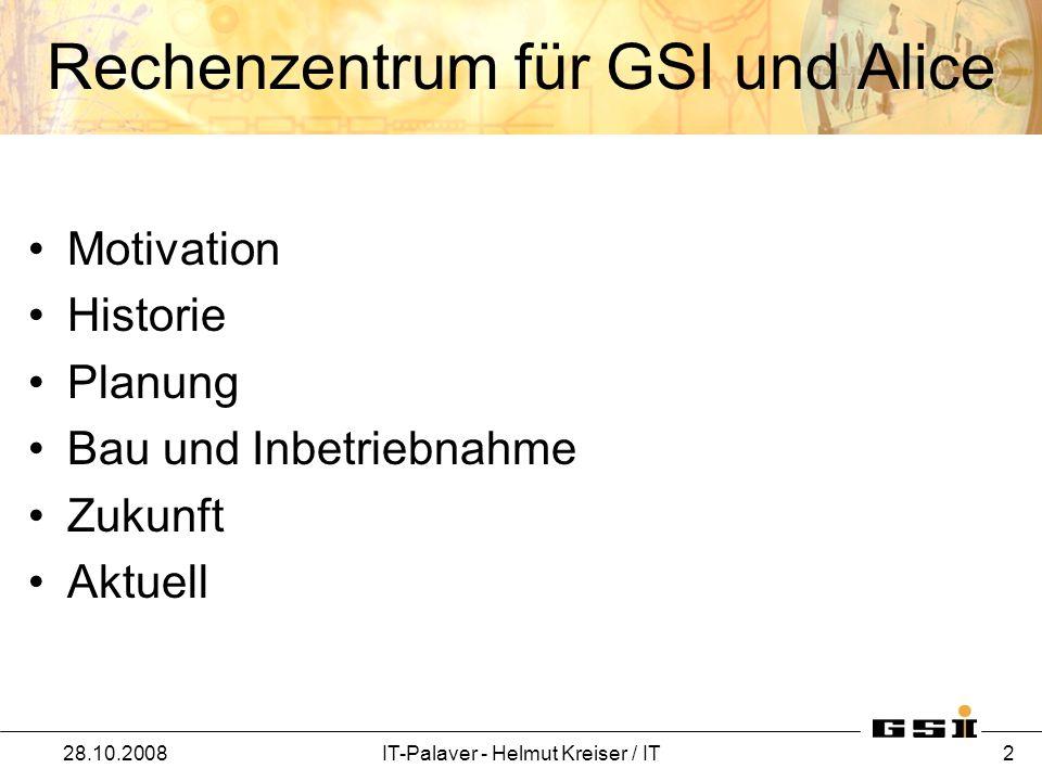 Rechenzentrum für GSI und Alice
