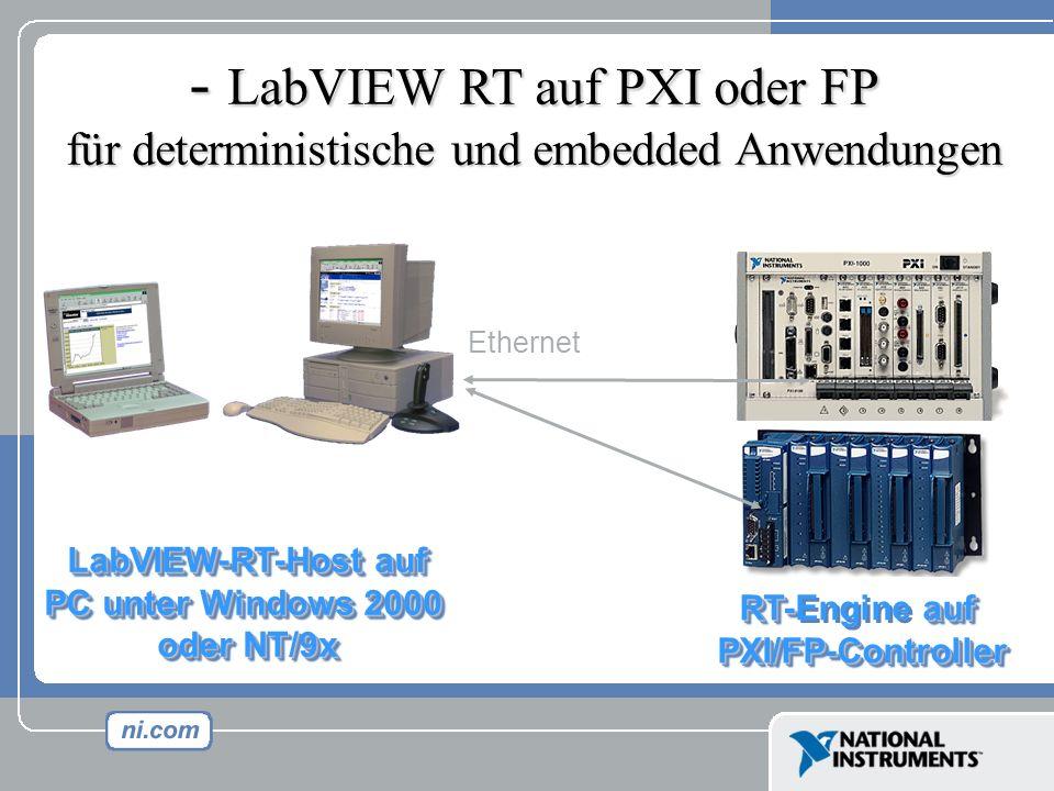LabVIEW RT auf PXI oder FP