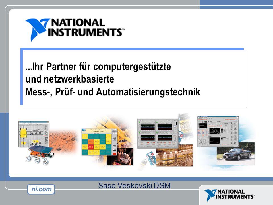 ...Ihr Partner für computergestützte und netzwerkbasierte Mess-, Prüf- und Automatisierungstechnik