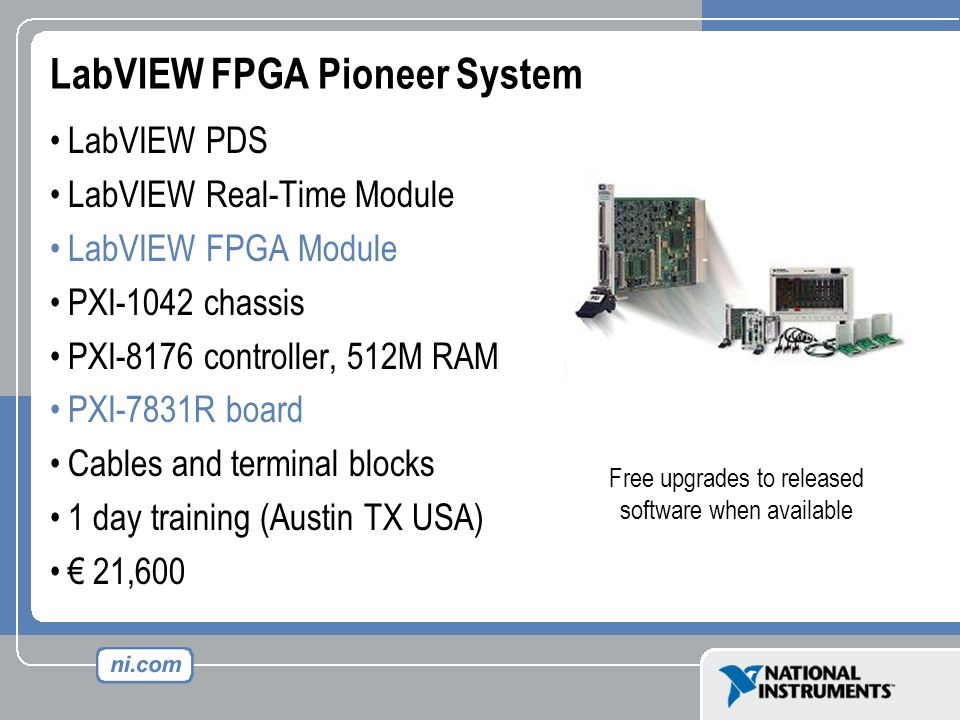 LabVIEW FPGA Pioneer System