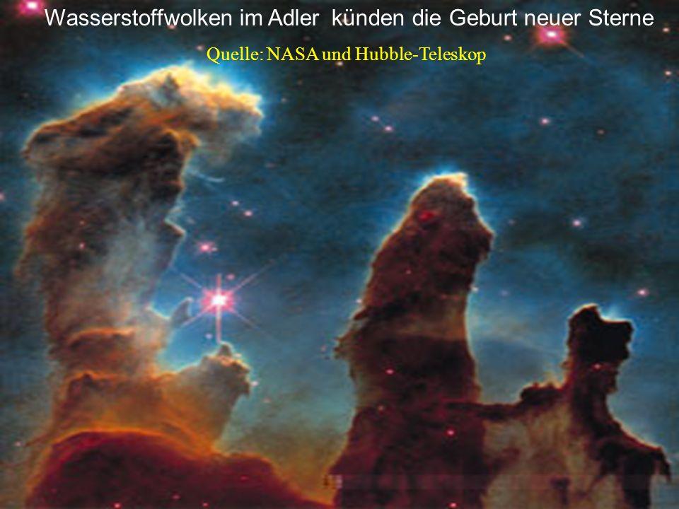 Wasserstoffwolken im Adler künden die Geburt neuer Sterne