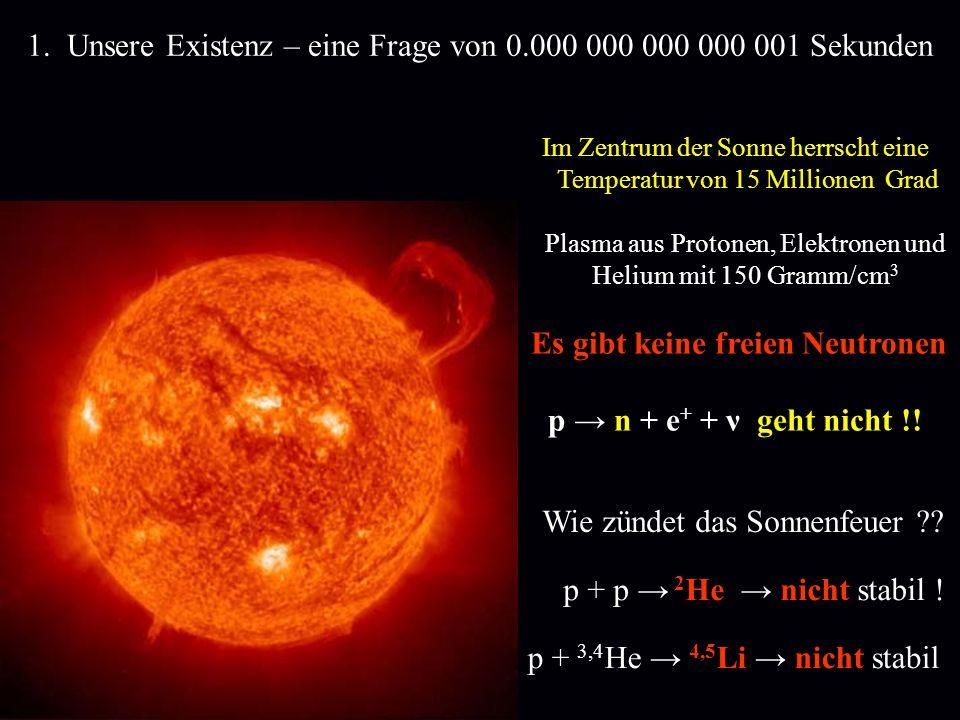 1. Unsere Existenz – eine Frage von 0.000 000 000 000 001 Sekunden