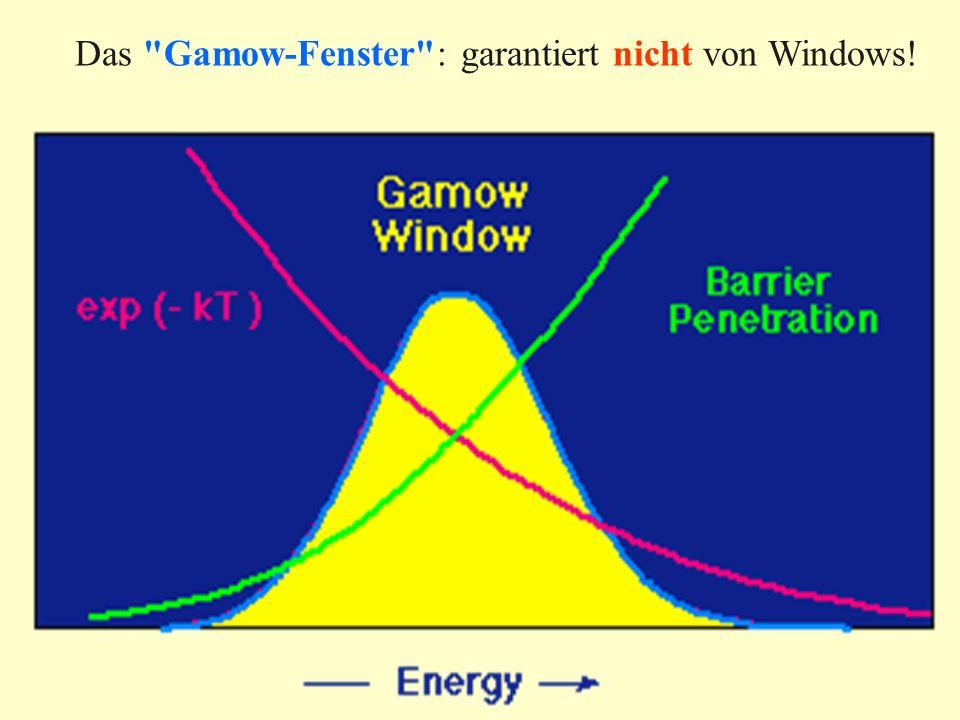 Das Gamow-Fenster : garantiert nicht von Windows!