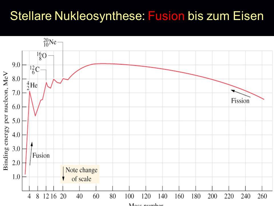 Stellare Nukleosynthese: Fusion bis zum Eisen