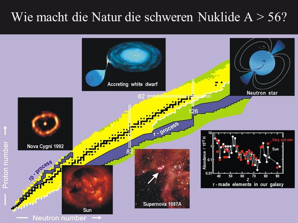 Wie macht die Natur die schweren Nuklide A > 56