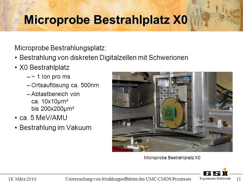 Microprobe Bestrahlplatz X0