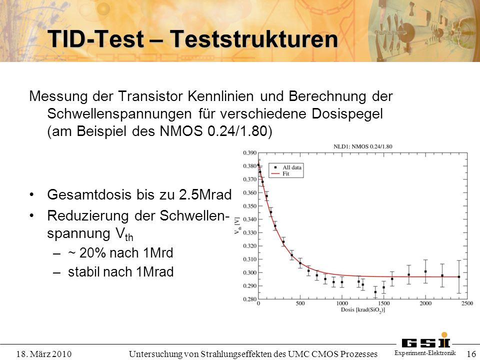 TID-Test – Teststrukturen