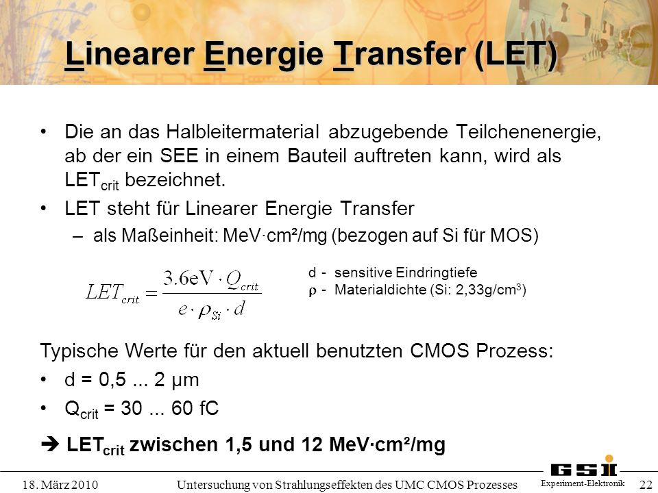 Linearer Energie Transfer (LET)
