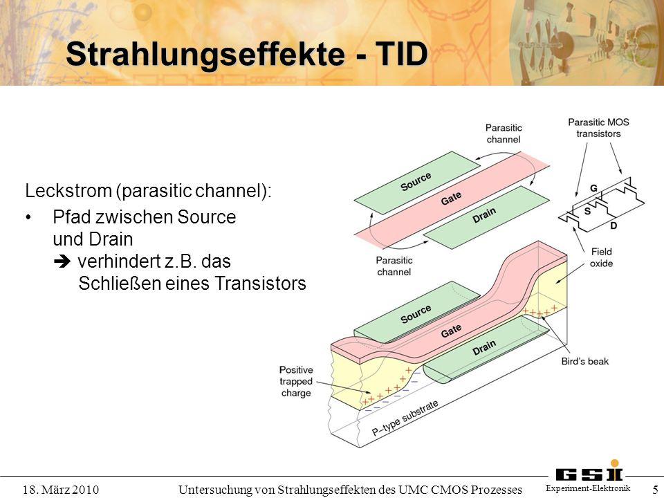 Strahlungseffekte - TID