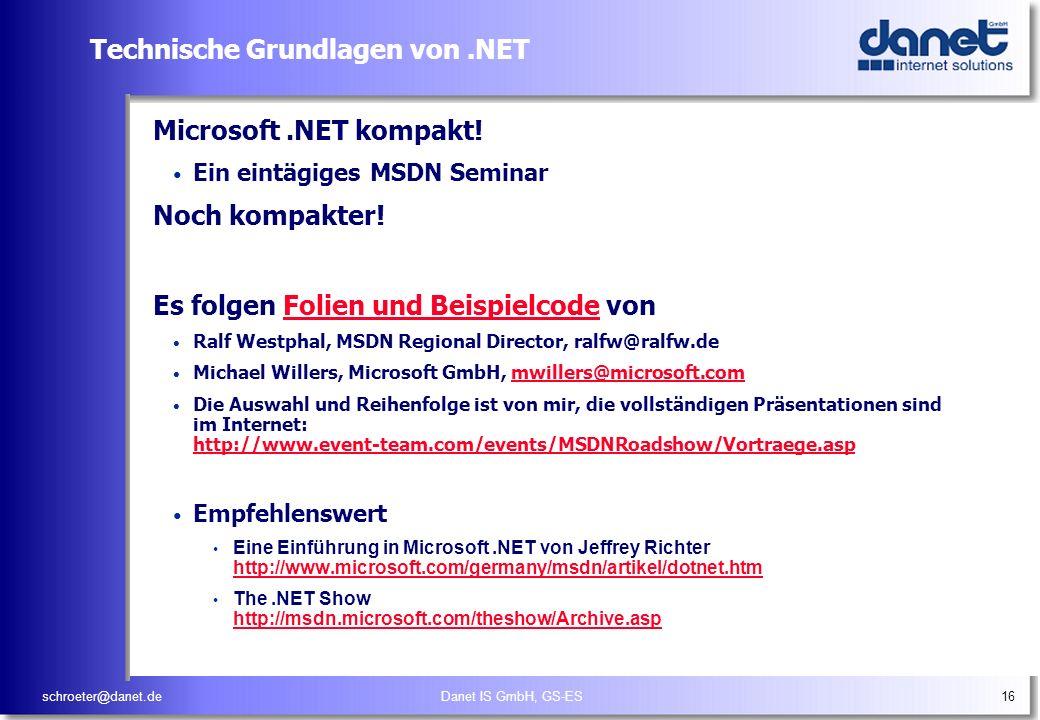 Technische Grundlagen von .NET