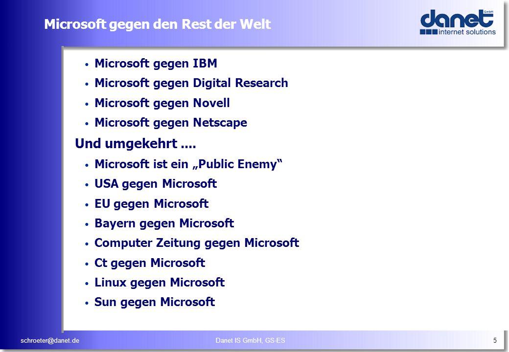 Microsoft gegen den Rest der Welt