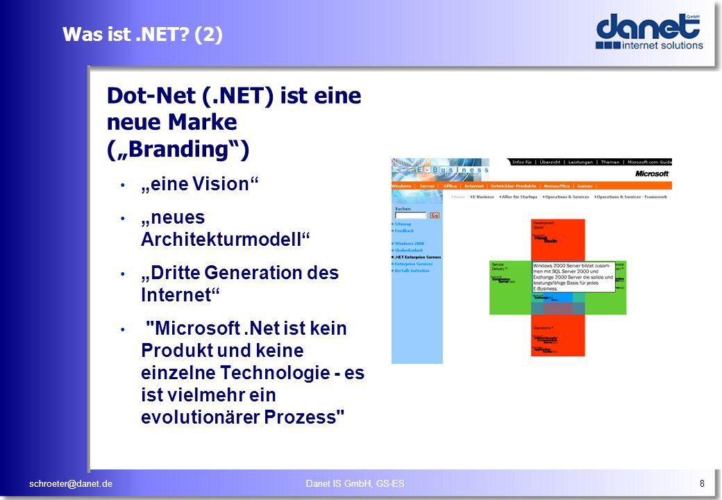"""Dot-Net (.NET) ist eine neue Marke (""""Branding )"""