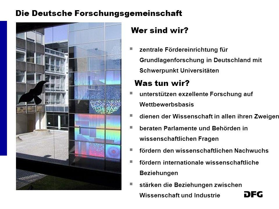 Die Deutsche Forschungsgemeinschaft