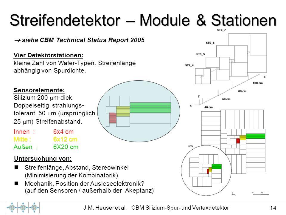 Streifendetektor – Module & Stationen