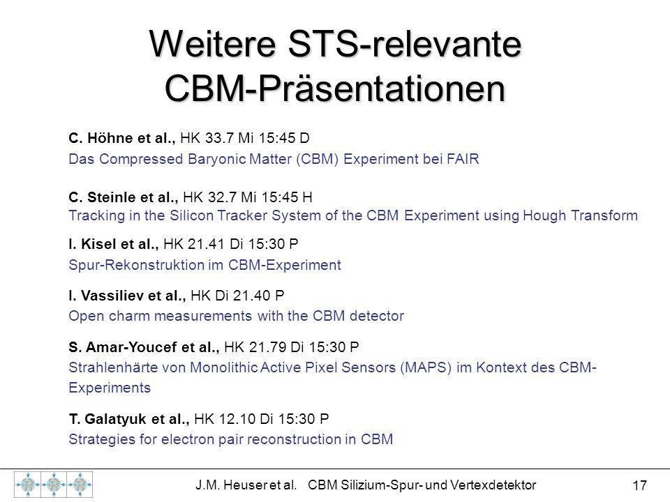 Weitere STS-relevante CBM-Präsentationen