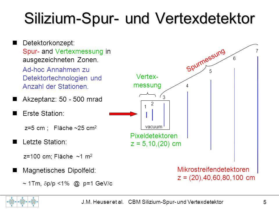 Silizium-Spur- und Vertexdetektor