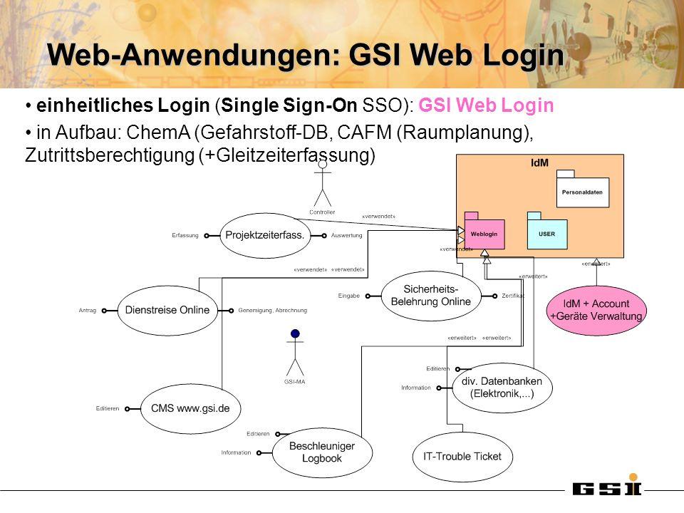 Web-Anwendungen: GSI Web Login
