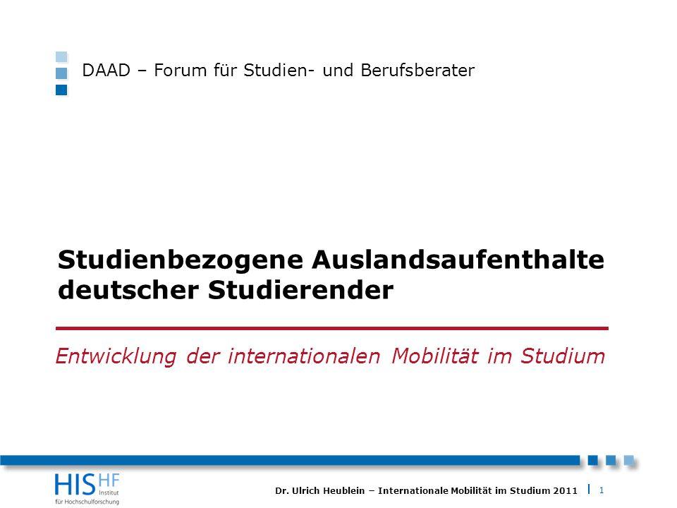 Studienbezogene Auslandsaufenthalte deutscher Studierender