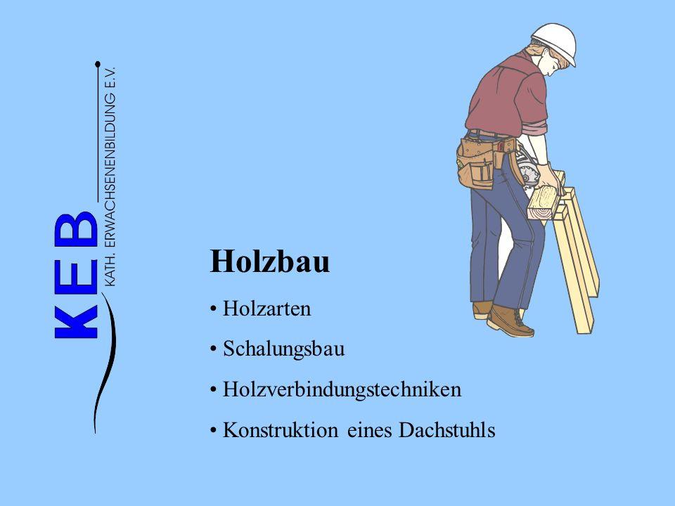 Holzbau Holzarten Schalungsbau Holzverbindungstechniken