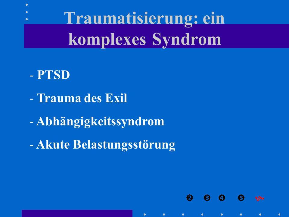 Traumatisierung: ein komplexes Syndrom