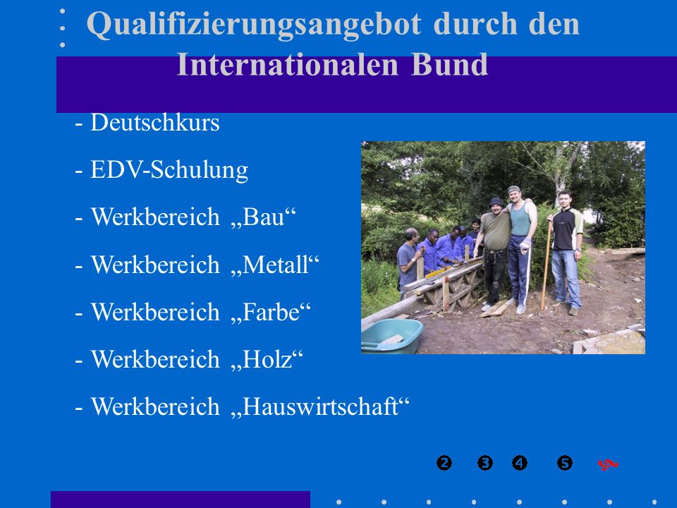 Qualifizierungsangebot durch den Internationalen Bund