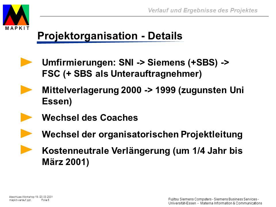 Projektorganisation - Details