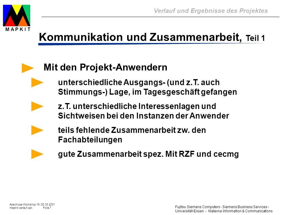 Kommunikation und Zusammenarbeit, Teil 1