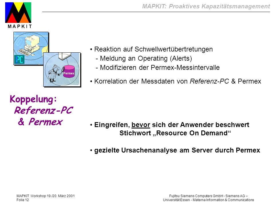 Koppelung: Referenz-PC & Permex Reaktion auf Schwellwertübertretungen
