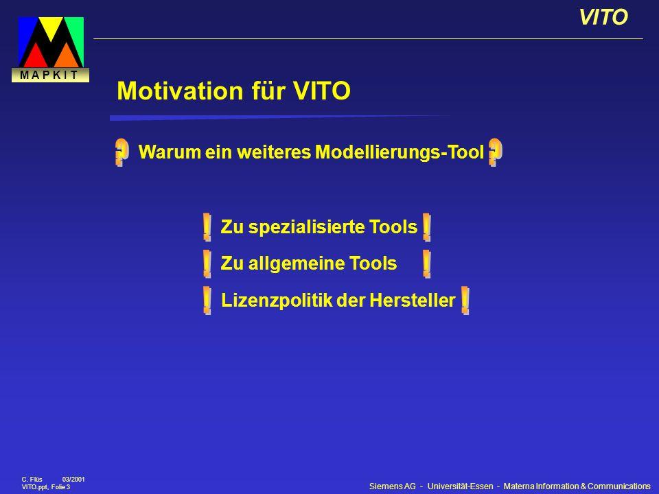Motivation für VITO ! ! ! Warum ein weiteres Modellierungs-Tool