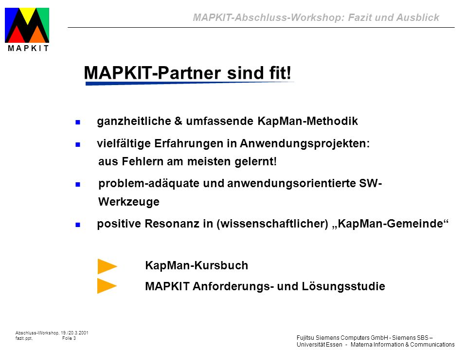 MAPKIT-Partner sind fit!