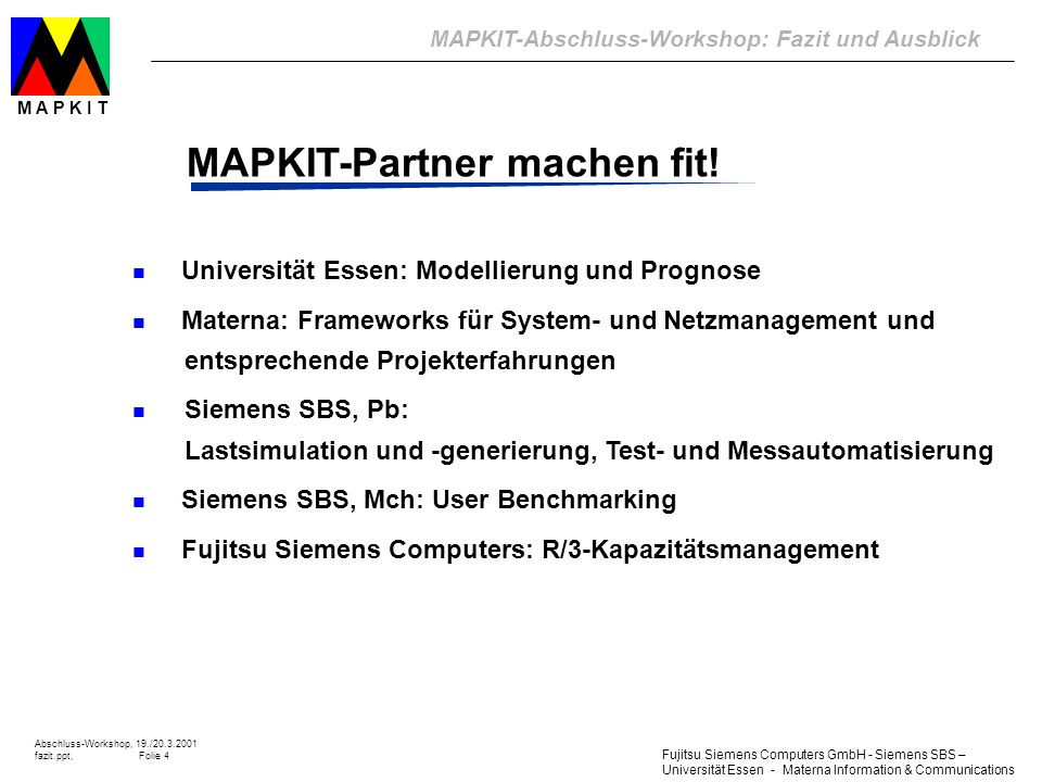 MAPKIT-Partner machen fit!