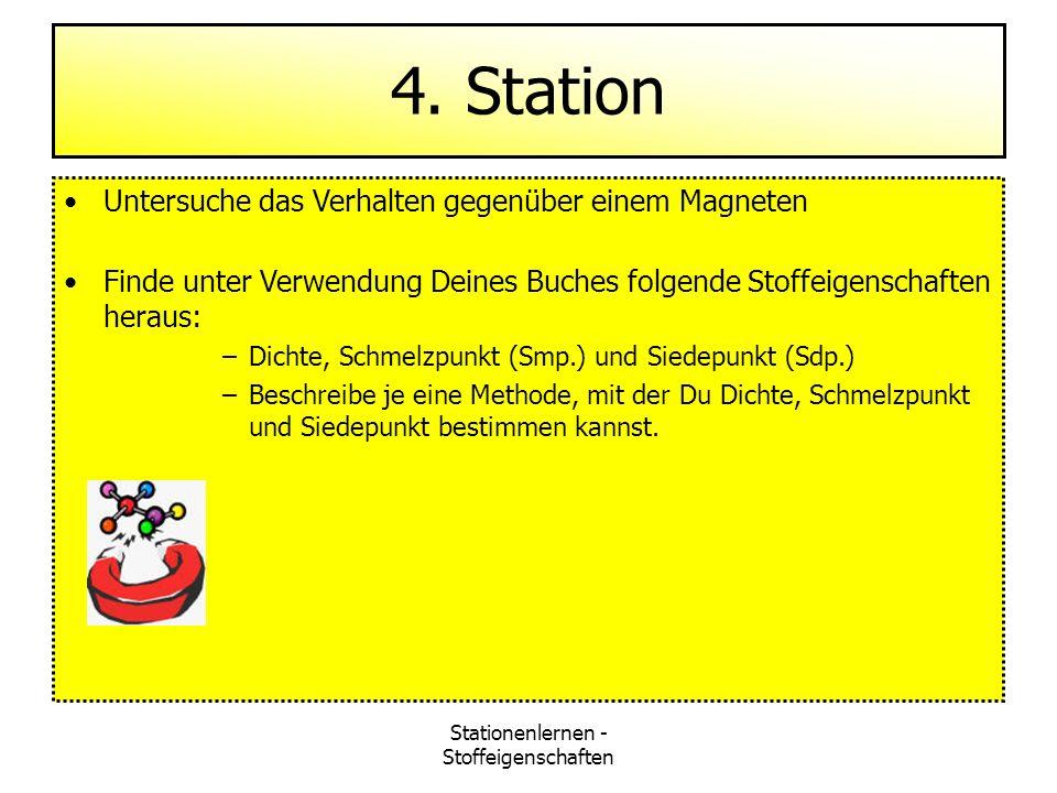 Stationenlernen - Stoffeigenschaften