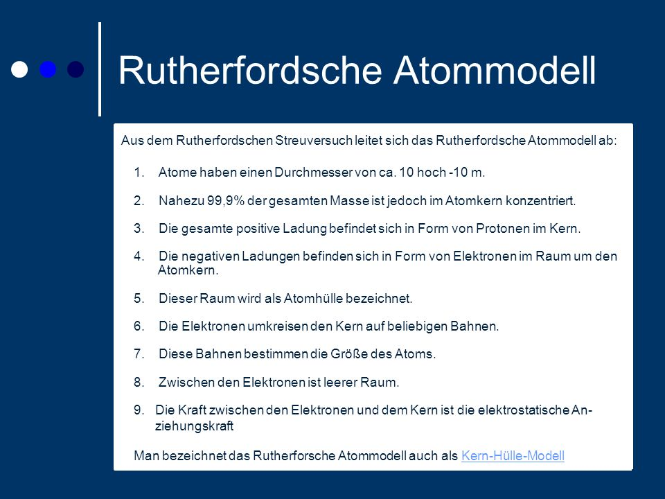Rutherfordsche Atommodell