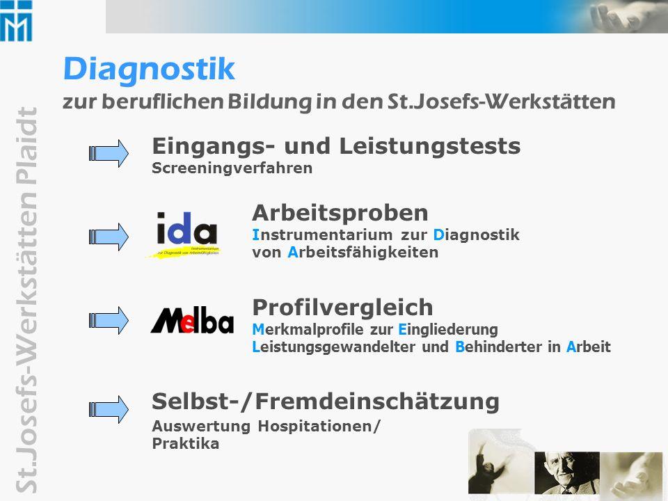 Diagnostik zur beruflichen Bildung in den St.Josefs-Werkstätten