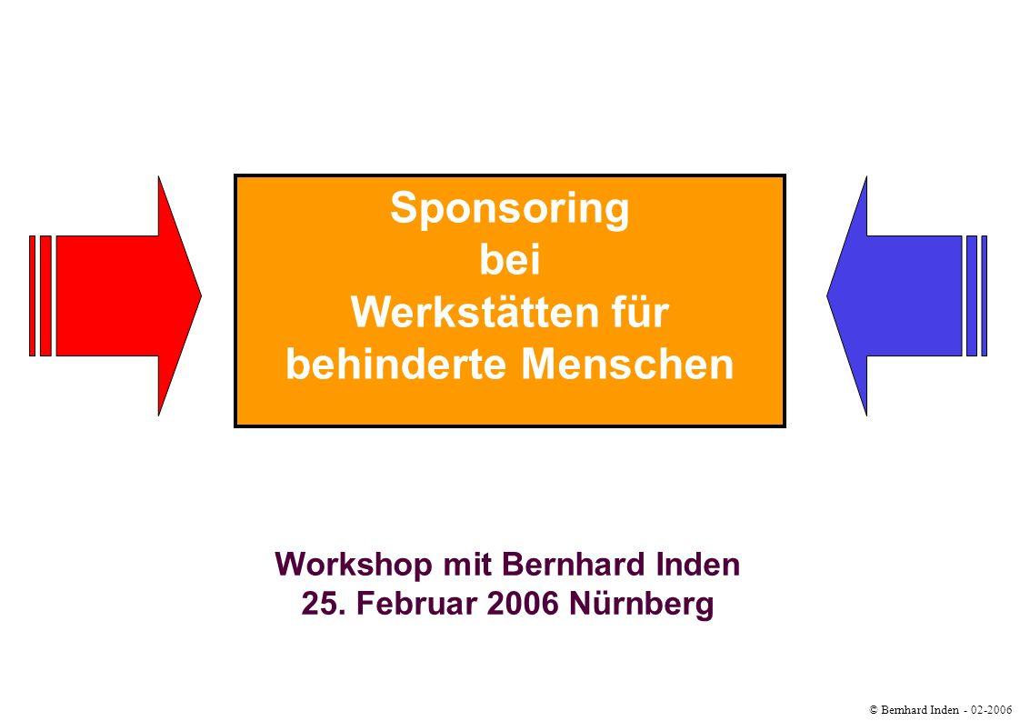 Werkstätten für behinderte Menschen Workshop mit Bernhard Inden