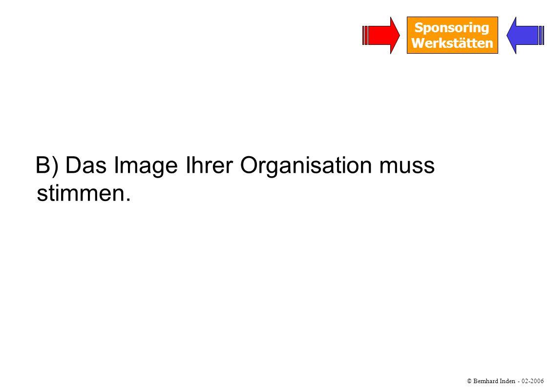 B) Das Image Ihrer Organisation muss stimmen.