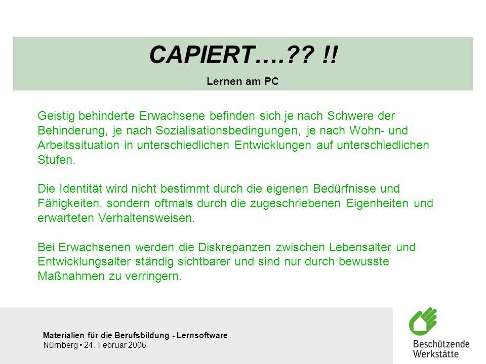CAPIERT…. !! Lernen am PC.