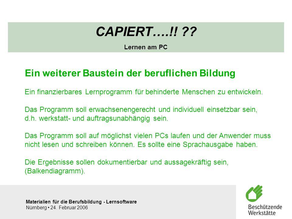 CAPIERT….!! Ein weiterer Baustein der beruflichen Bildung