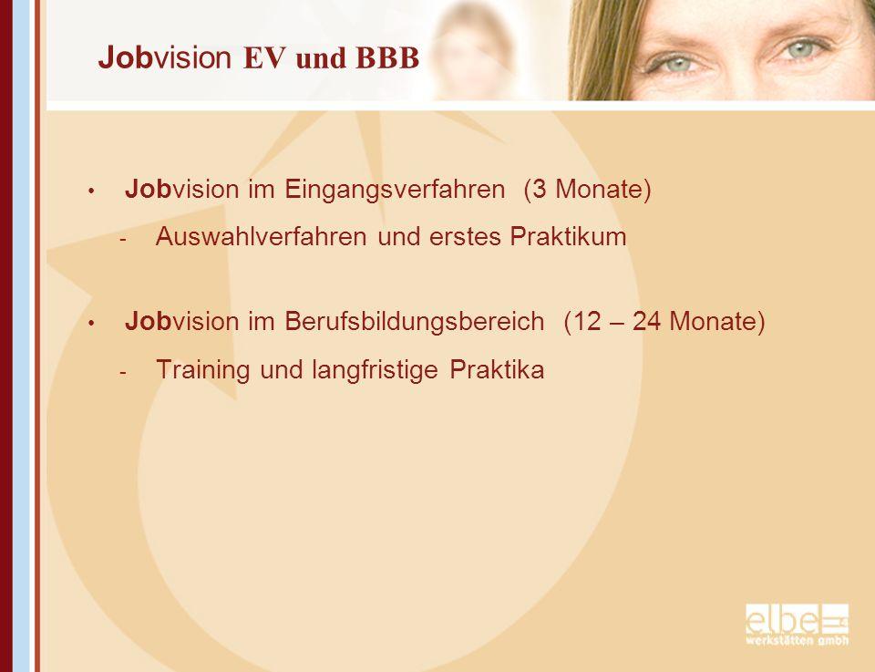 Jobvision EV und BBB Jobvision im Eingangsverfahren (3 Monate)