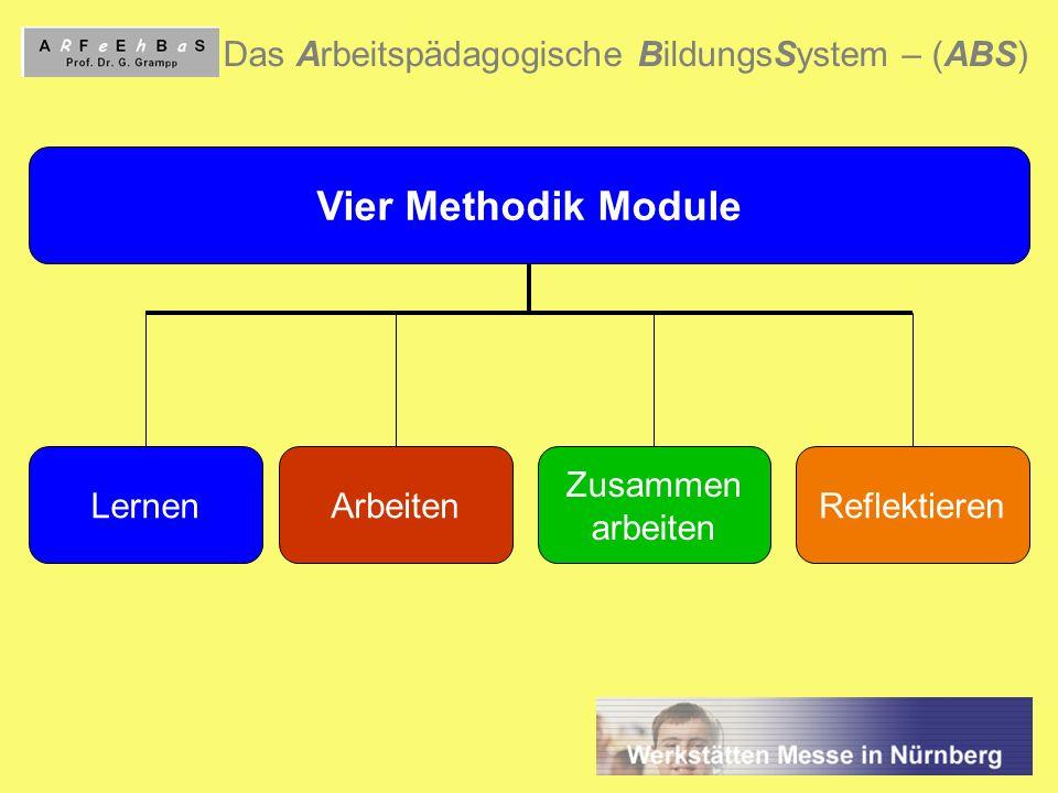 Vier Methodik Module Das Arbeitspädagogische BildungsSystem – (ABS)