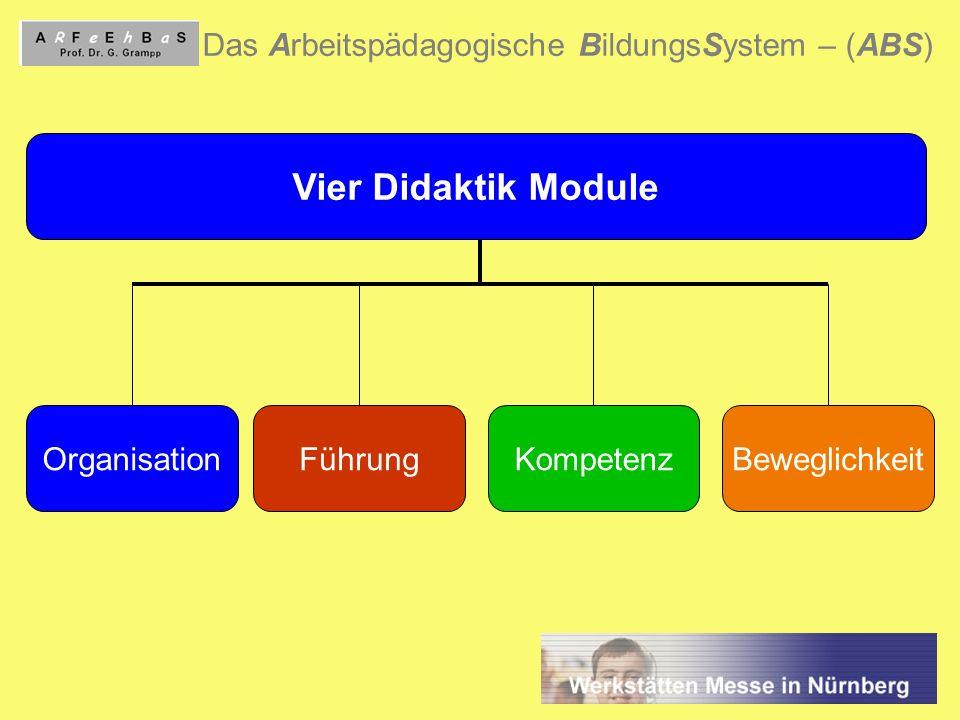 Vier Didaktik Module Das Arbeitspädagogische BildungsSystem – (ABS)