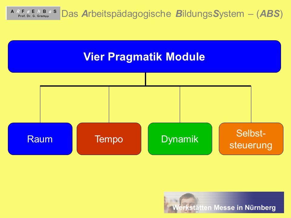 Vier Pragmatik Module Das Arbeitspädagogische BildungsSystem – (ABS)