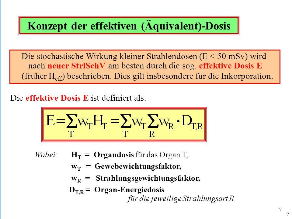Konzept der effektiven (Äquivalent)-Dosis
