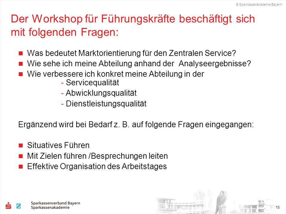 Der Workshop für Führungskräfte beschäftigt sich mit folgenden Fragen: