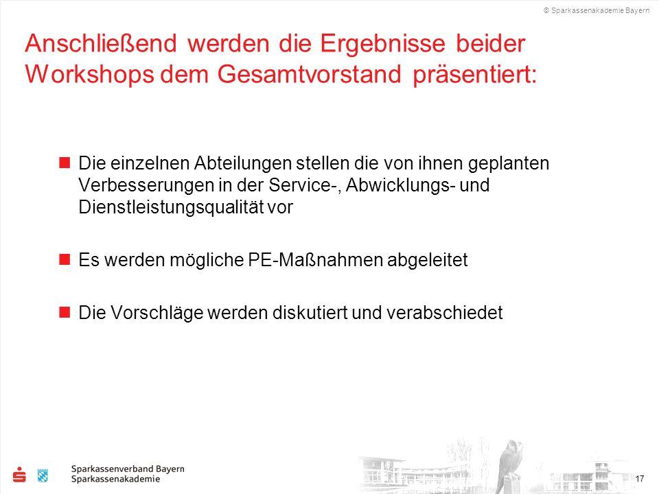 Anschließend werden die Ergebnisse beider Workshops dem Gesamtvorstand präsentiert: