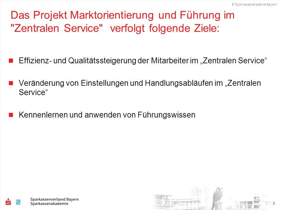 Das Projekt Marktorientierung und Führung im Zentralen Service verfolgt folgende Ziele: