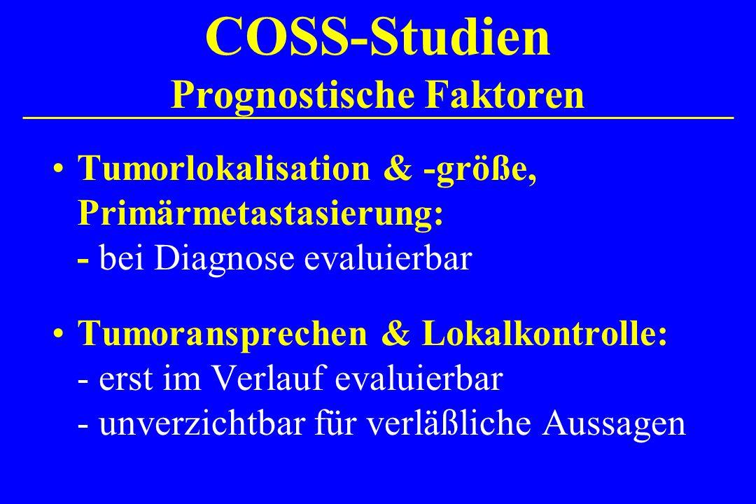 COSS-Studien Prognostische Faktoren